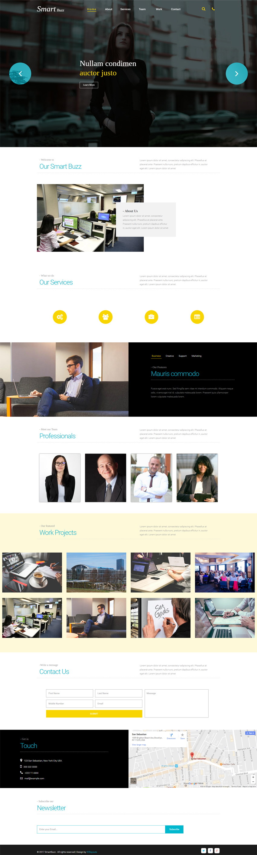 Smartbuzz a Corporate Business Category Flat Bootstrap Responsive ...