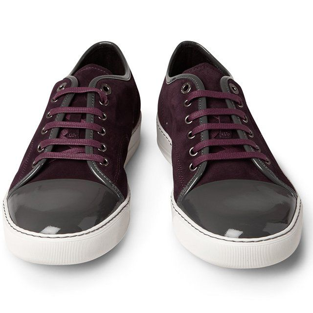 c411acfec9b Suede and Patent-Leather Sneakers by Lanvin | Sneakers - Zapatos