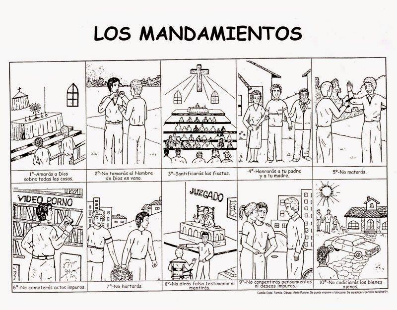 Los Mandamientos De La Ley De Dios 10 Mandamientos Para Ninos Mandamientos De Dios Los 10 Mandamientos