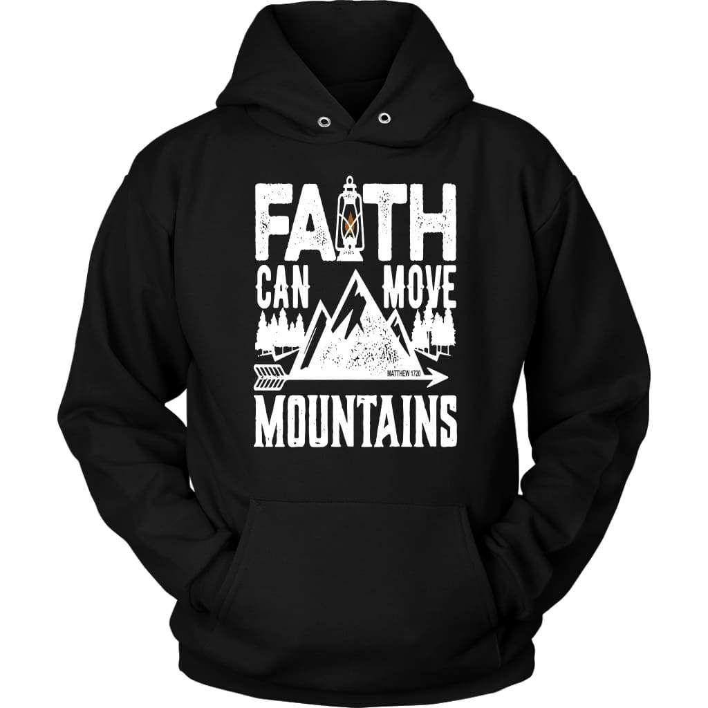 Faith can move mountains christian faith hoodie