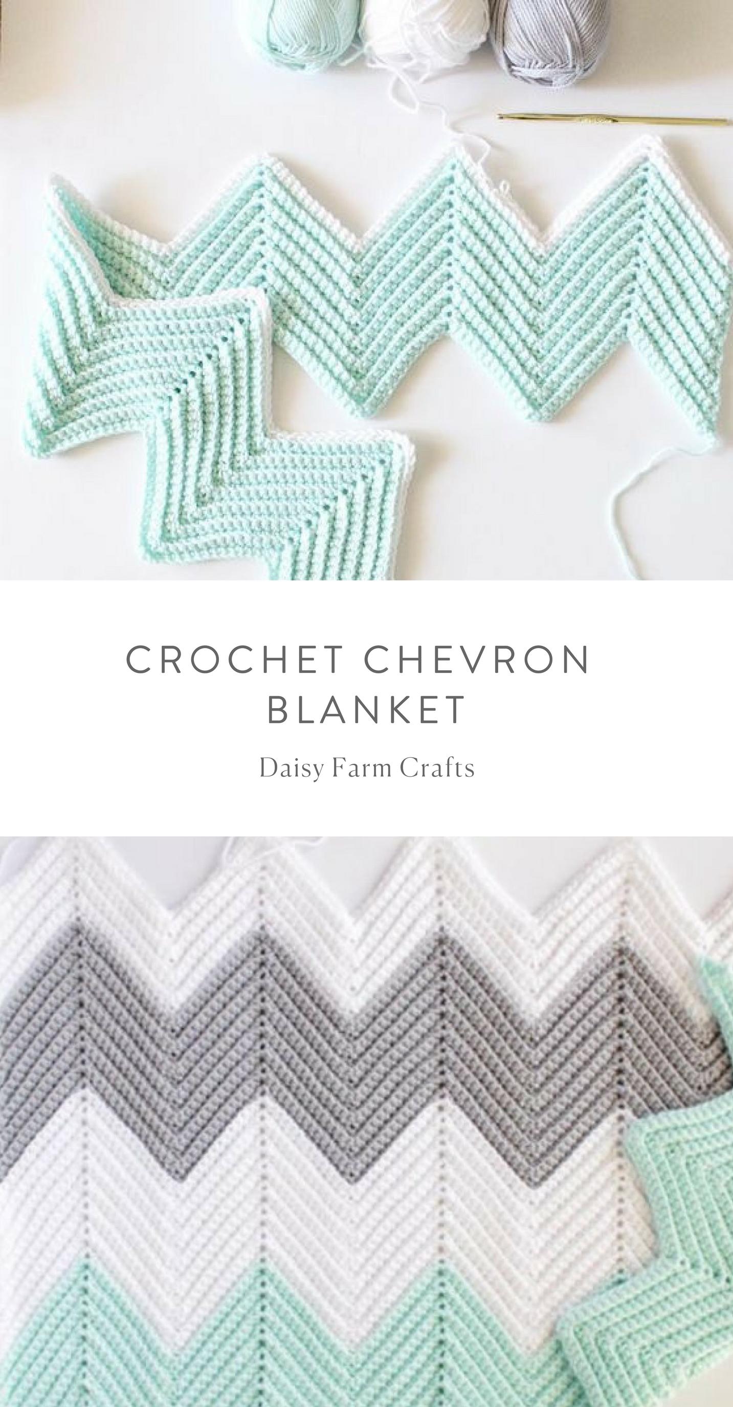 Free Pattern - Crochet Chevron Blanket | Mantas de bebe | Pinterest ...