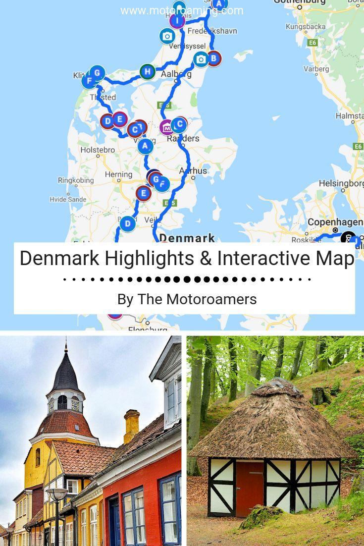 Denmark Highlights & Interactive Map - Motoroaming