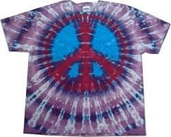 This Is A 100 Cotton Tie Dye T Shirt With A Peace Sign On The Peace Sign With Color On Inside