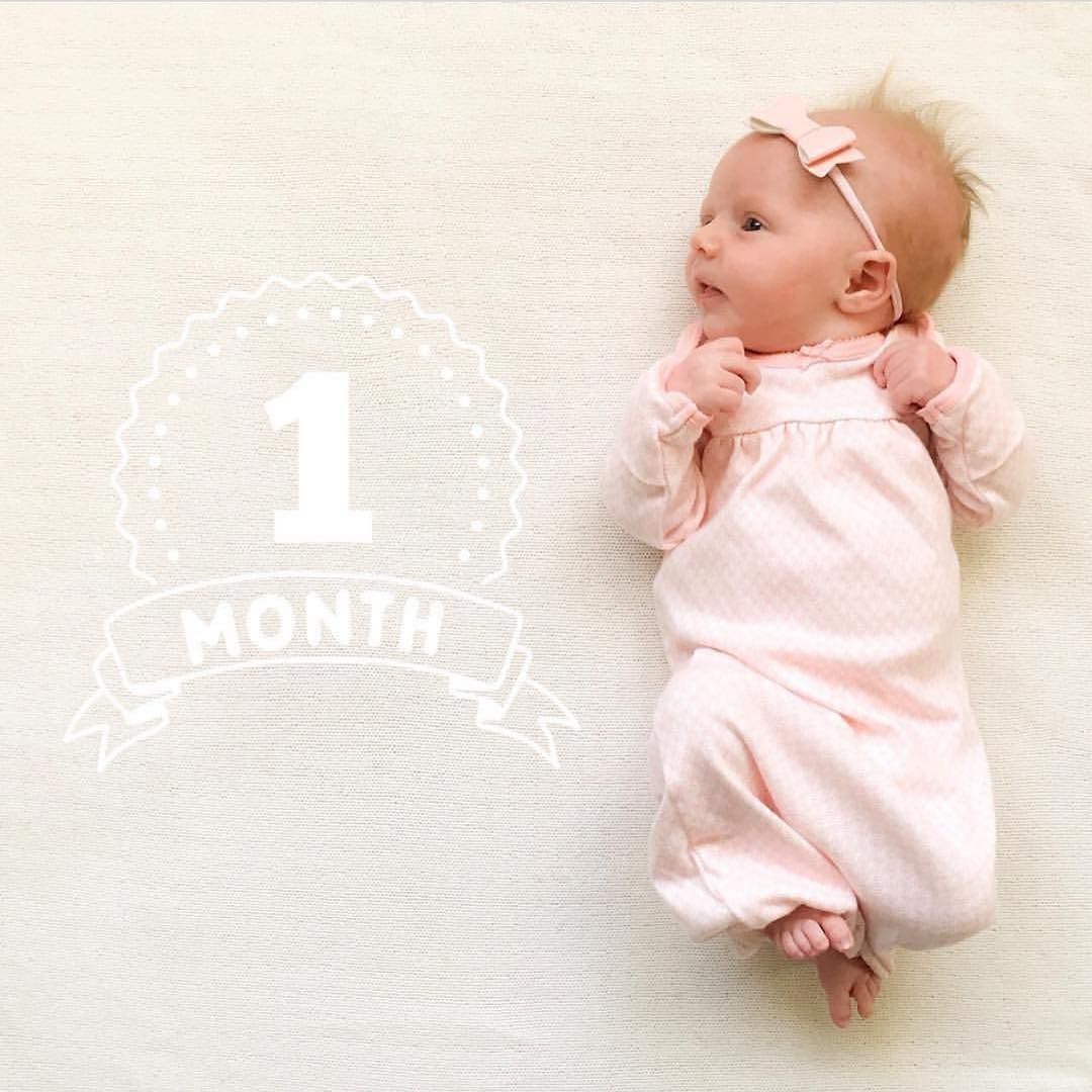 Happy One Month Old Sweet Reese Henleyandhadley Your Little Lady Is Just The Most Beaut One Month Old Baby Baby Boy Newborn Photography Monthly Baby Pictures
