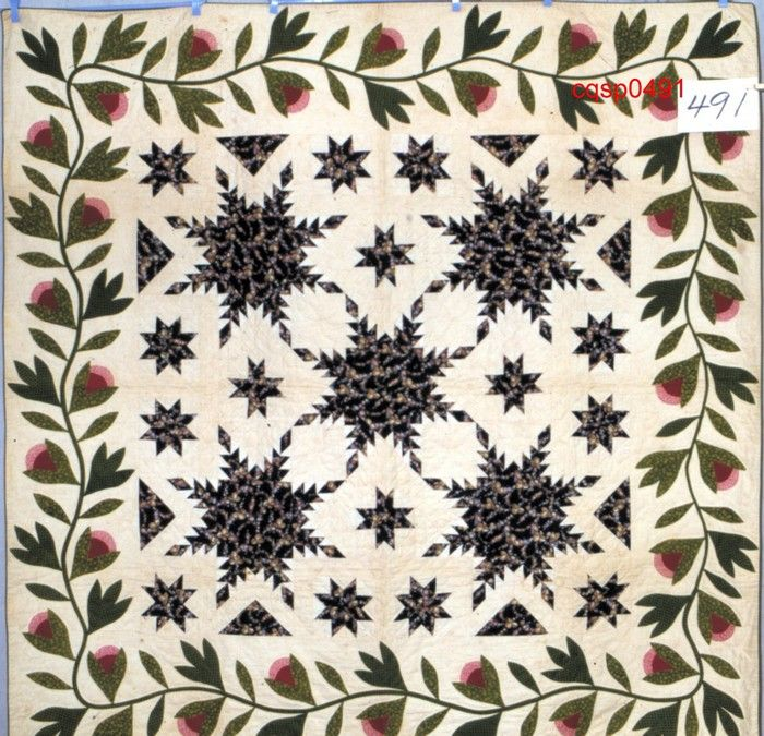 Feathered Star   Quiltmaker: Potter, Emily Charlotte	[1850-1875]   Connecticut Quilt Search: Connecticut Quilt Search Project