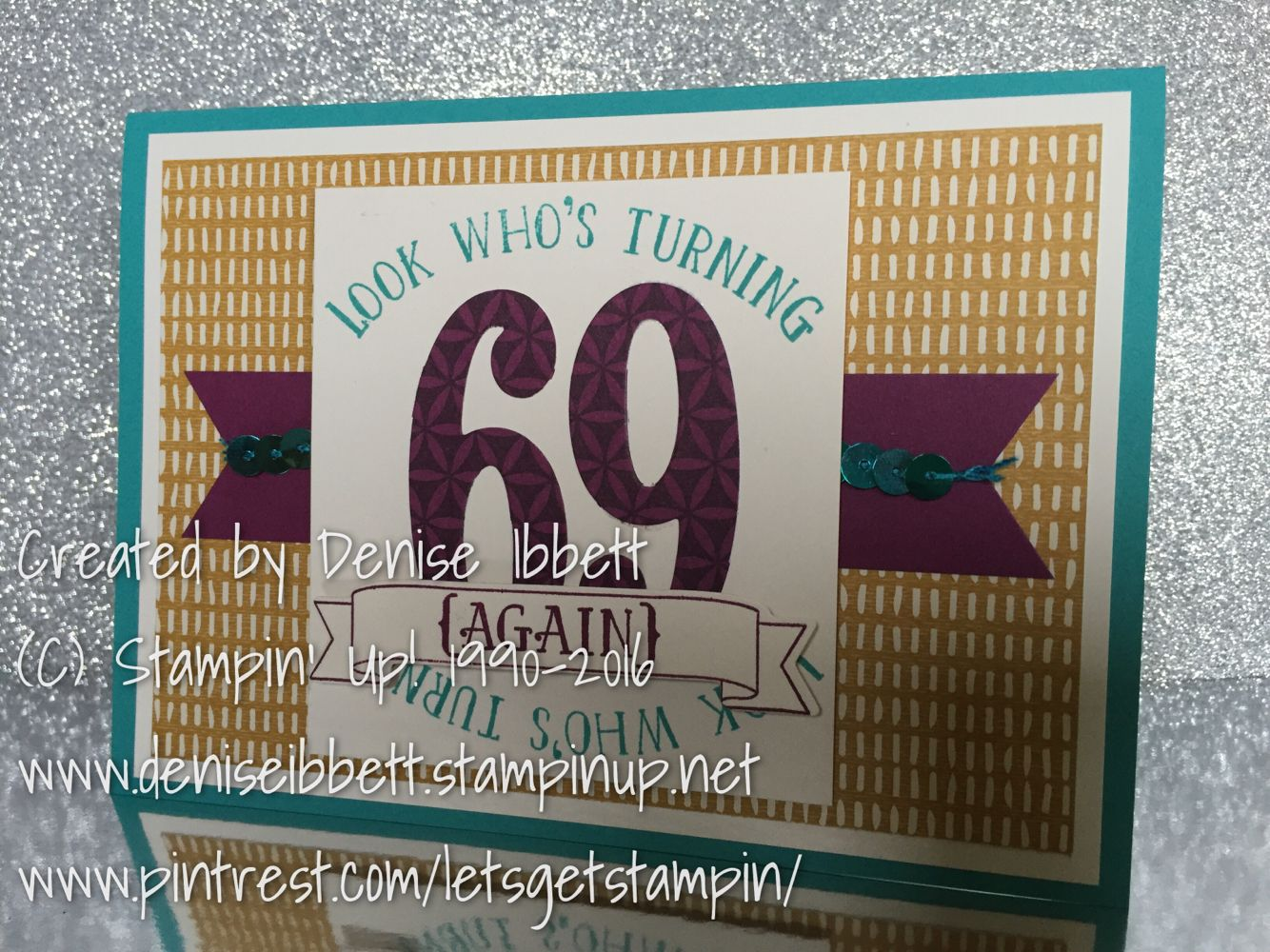 Male Themed 70th Birthday Card Using Stampin Up Number Of Years