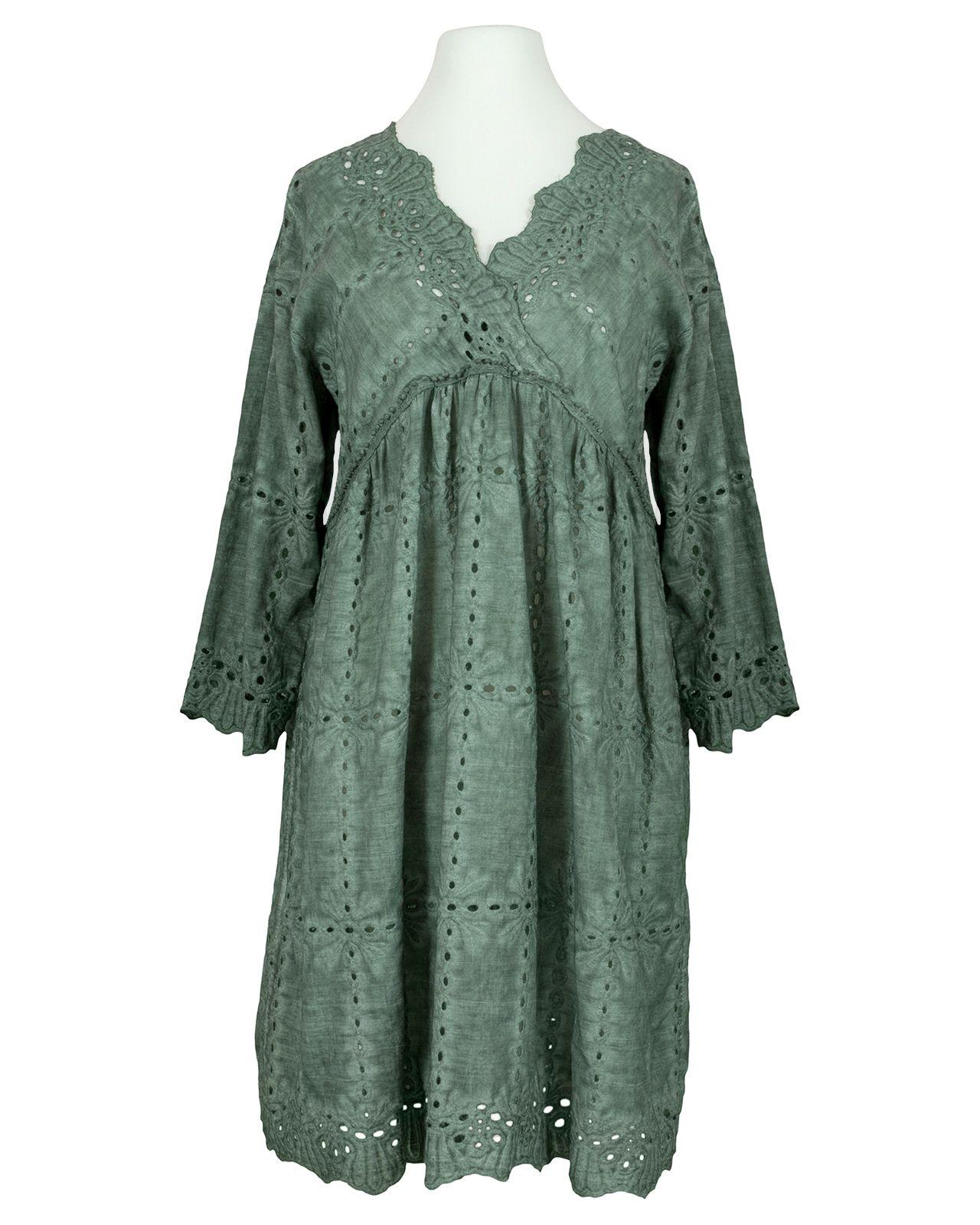 Kleid Blau Lochstickerei - Mode Gehen