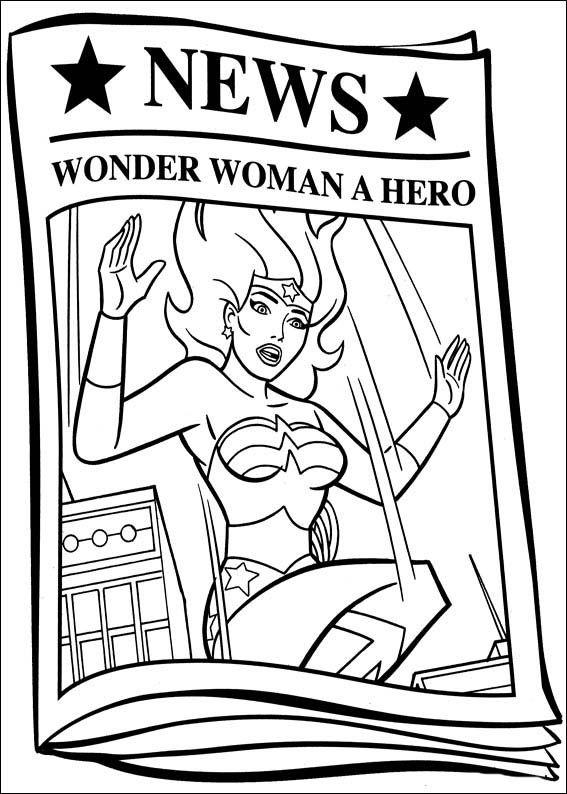 Wonder Woman Ausmalbilder 53 | Ausmalbilder für kinder | Pinterest ...