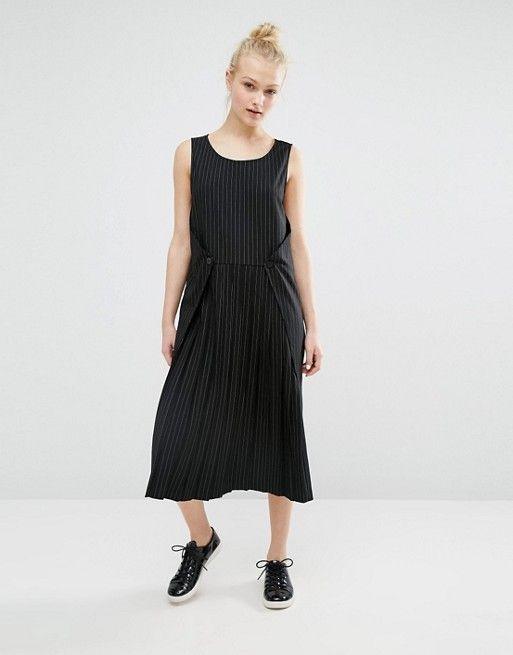 a7524b3ae52f Monki | Monki Pinstripe Midi Dress | Dresses | Dresses, Fashion, Monki