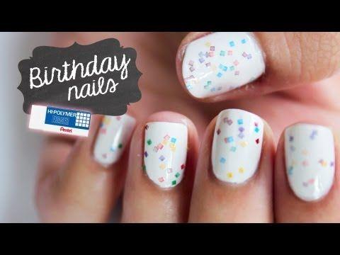 """diy """"indie nail polish"""" effect using a pentel eraser"""