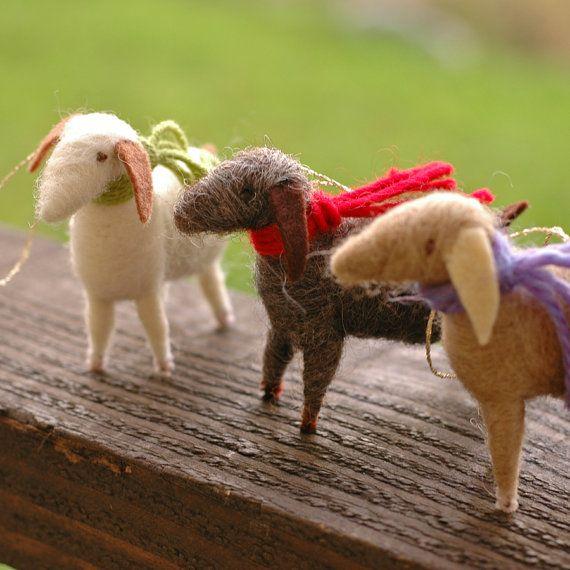 Goat Christmas Ornament.Goat Christmas Ornaments Too Cute A Goat S Life Felt