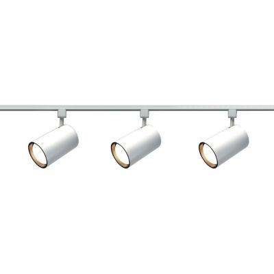 Glomar 3 Light R30 White Straight Cylinder Track Lighting