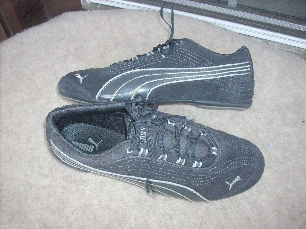 Puma Eco Ortholite women shoes 10 Grey suede New | eBay