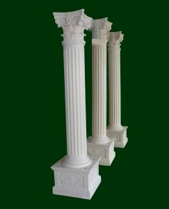 Classic Decorative Roman Fiberglass Columns Smooth Pillar Home Use On  Made In China.