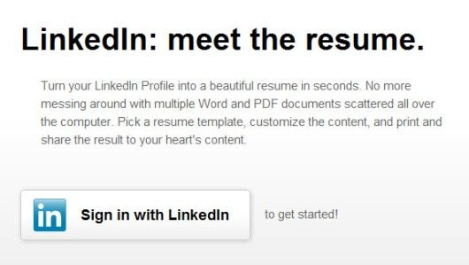 how to convert your linkedin profile into a fine looking resume