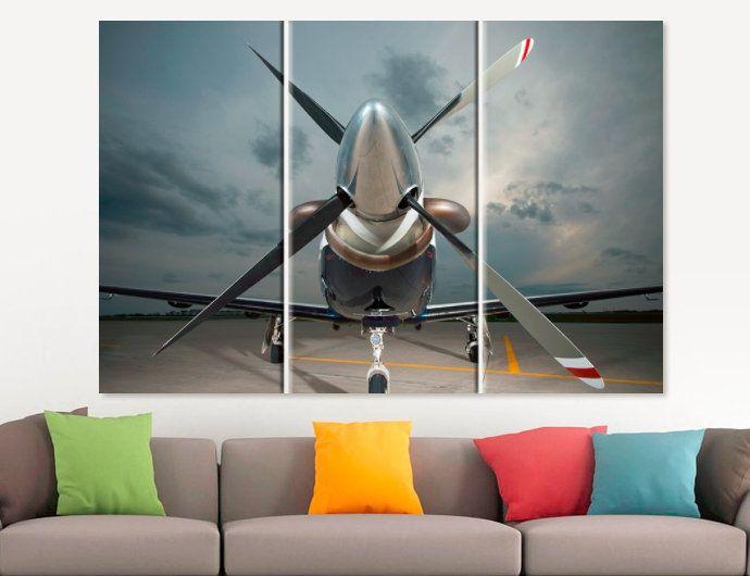 Aircraft Canvas Print Set Aviation Canvas Art Airplane Art Jet Wall Art Office  Decor Pilot Gift Aircraft Poster Plane Canvas Boys Room Decor By ...