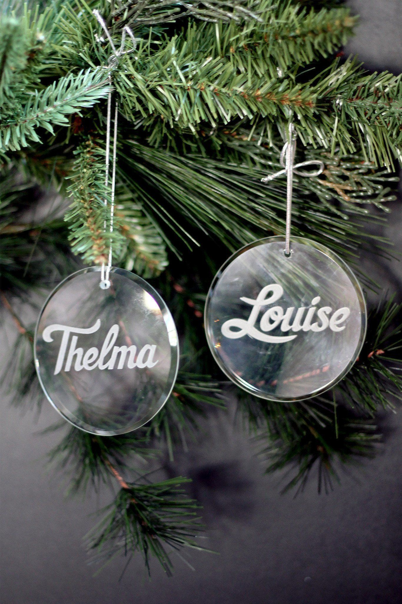 Thelma & Louise Christmas Tree Ornaments