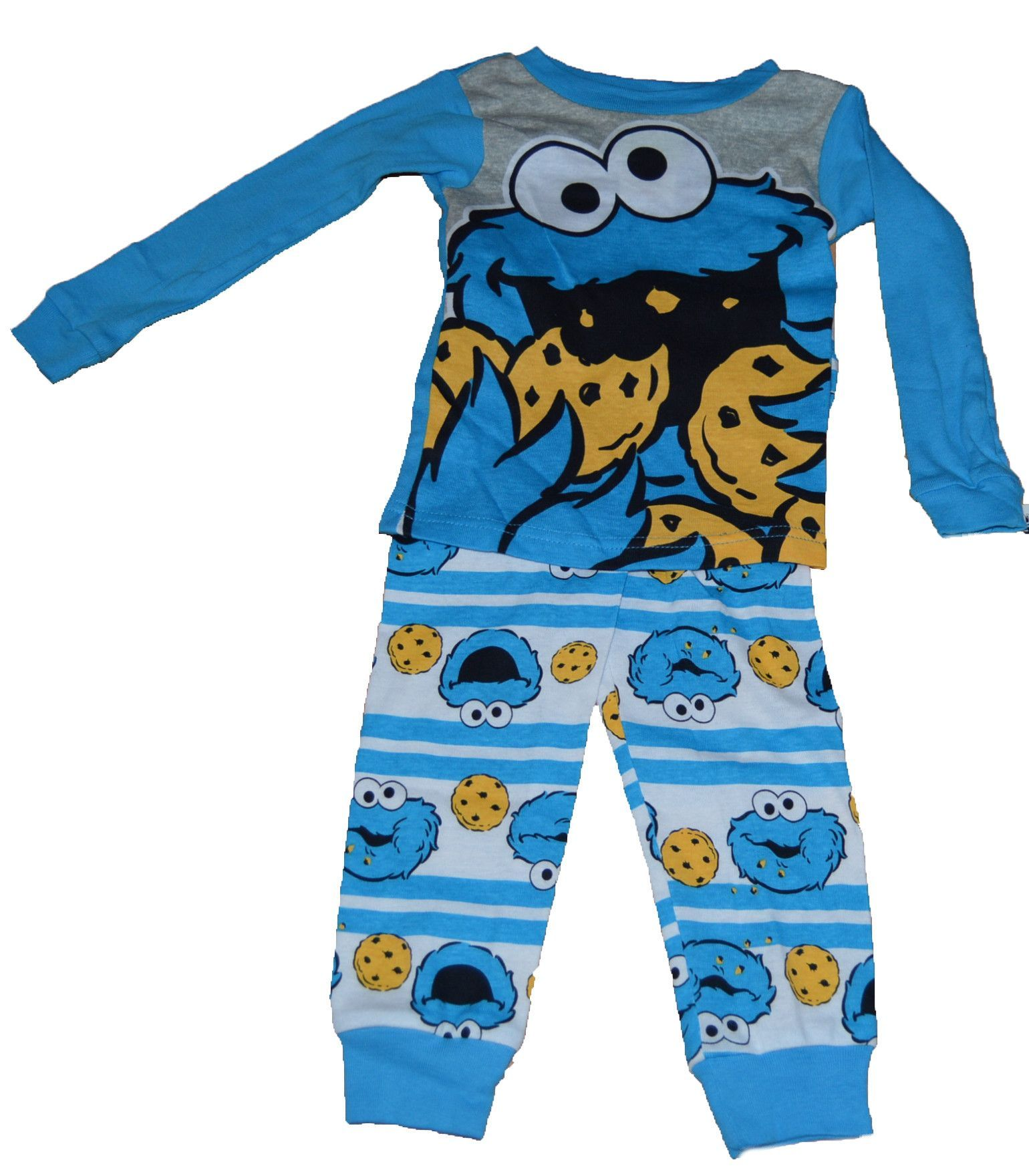 Sesame Street Cookie Monster Boy Baby Toddler Cotton Tight Fit 2