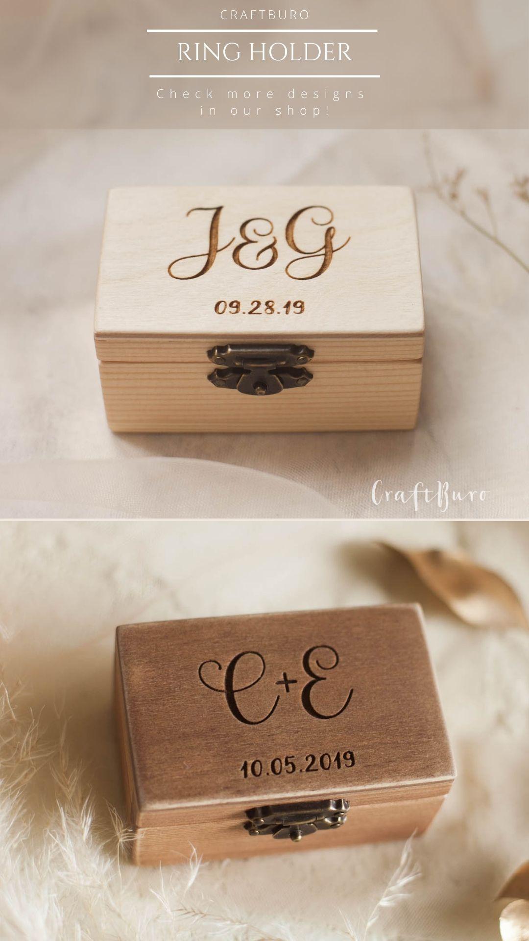 Ring Bearer Box Wedding Ring Box For Ceremony Wedding Ring Etsy In 2020 Wedding Ring Box Ring Bearer Box Ring Holder Wedding