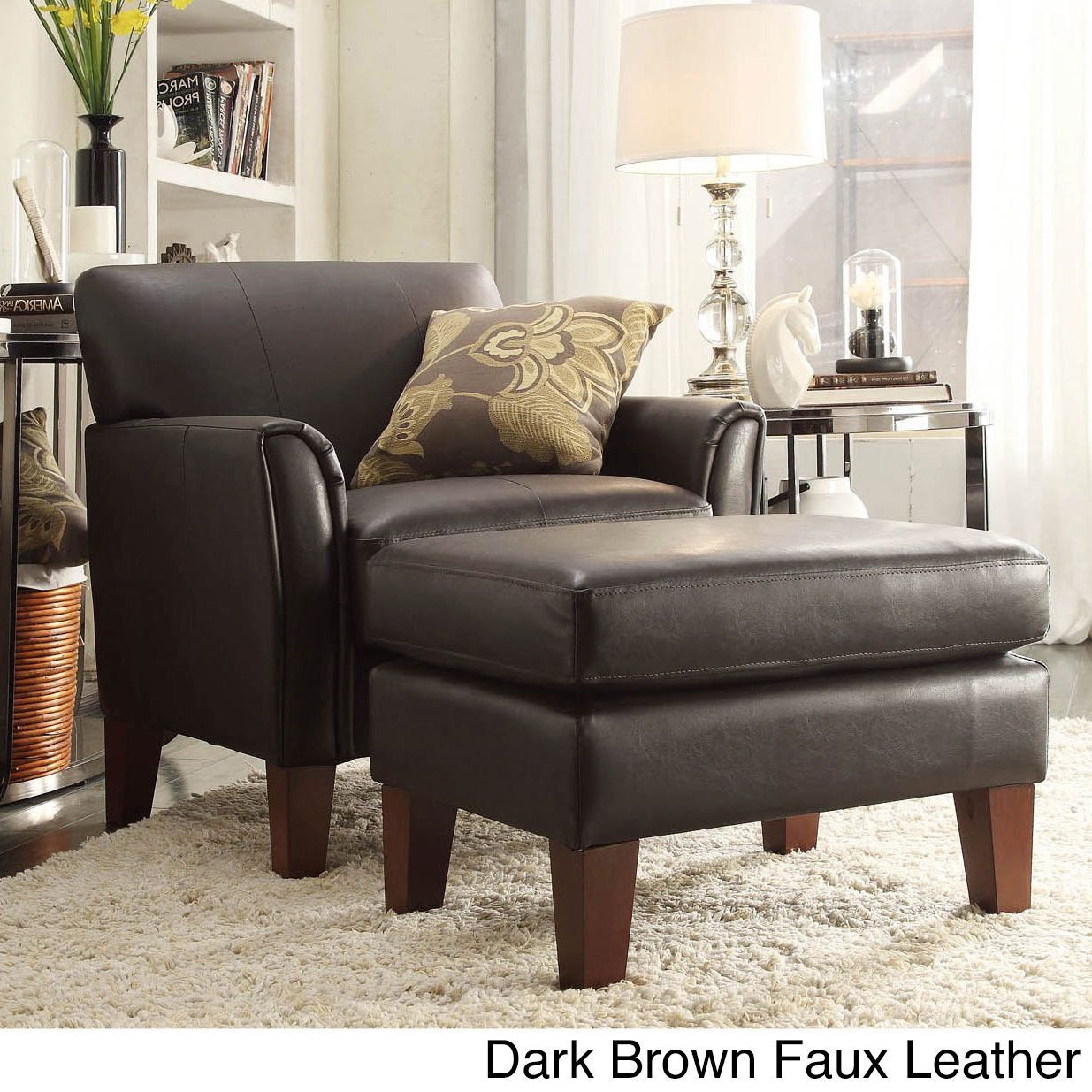 Uptown Modern Accent Chair And Ottoman By Inspire Q