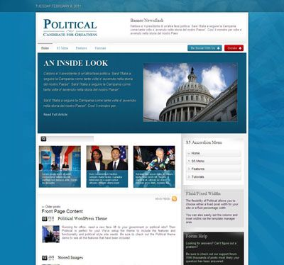 Political Government WordPress Theme Responsive WordPress Themes - political brochure