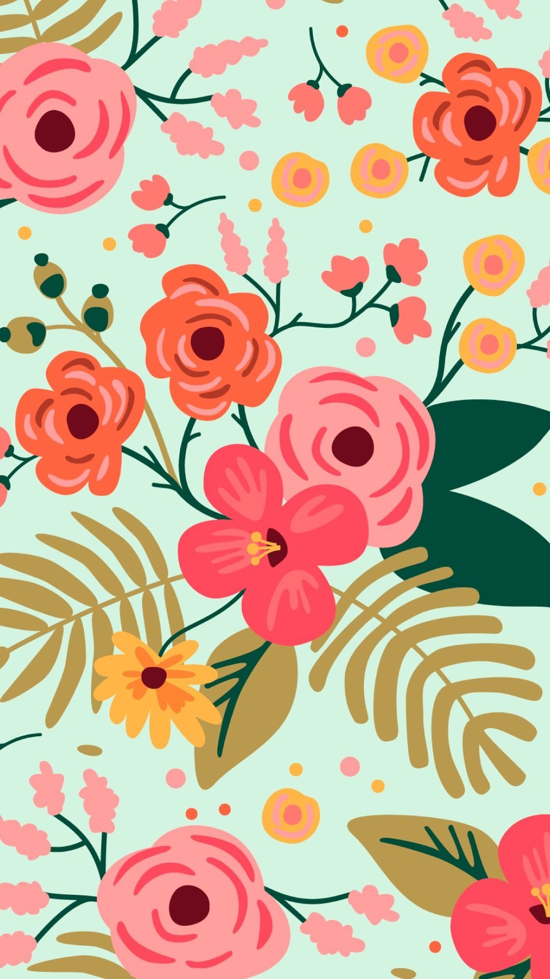 20 Vector Floral Wallpaper And Background Iphone Wallpaper