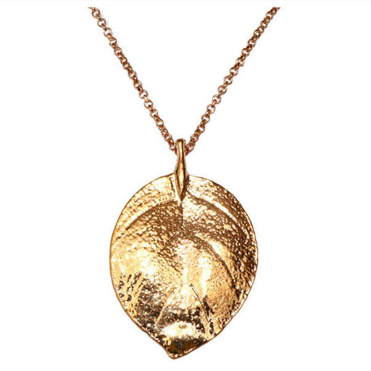 Gold plated leaf pendant sweater necklace leaf pendant leaves and gold plated leaf pendant sweater necklace aloadofball Choice Image