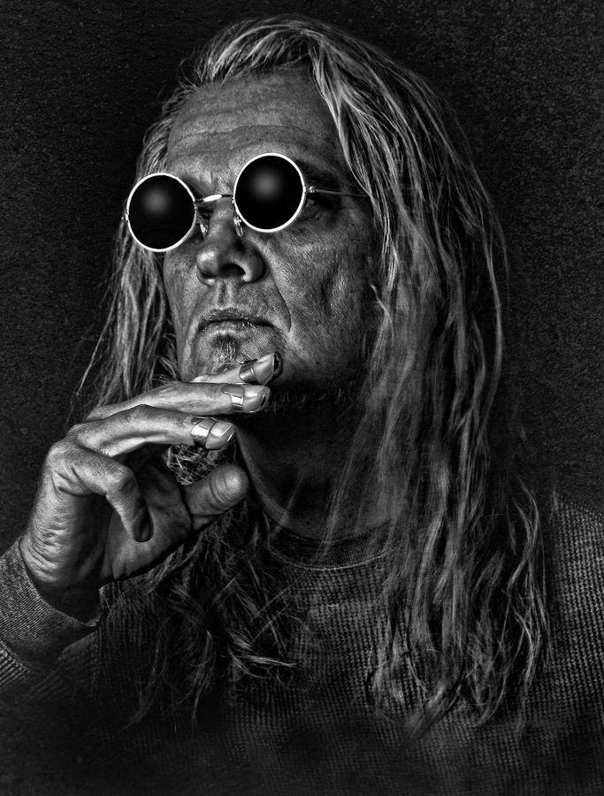 Gary Koenig has some amazing black and white portraits.