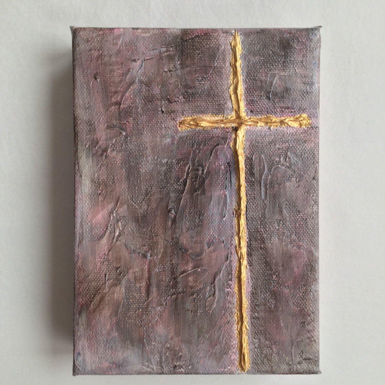 Cross Acrylic Painting Religious Painting Cross Painting