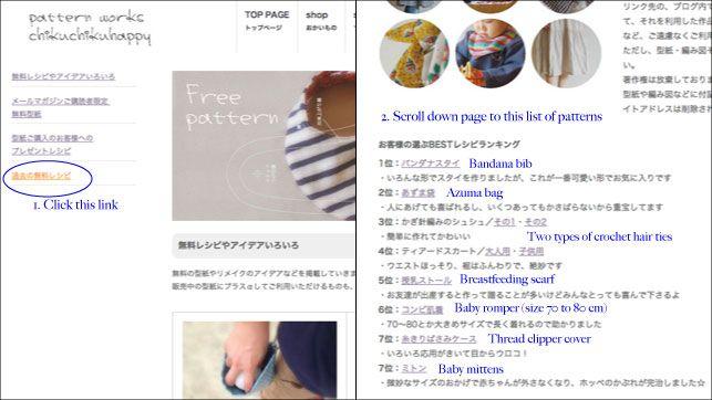 How to download free Japanese sewing patterns from Chiku Chiku ...