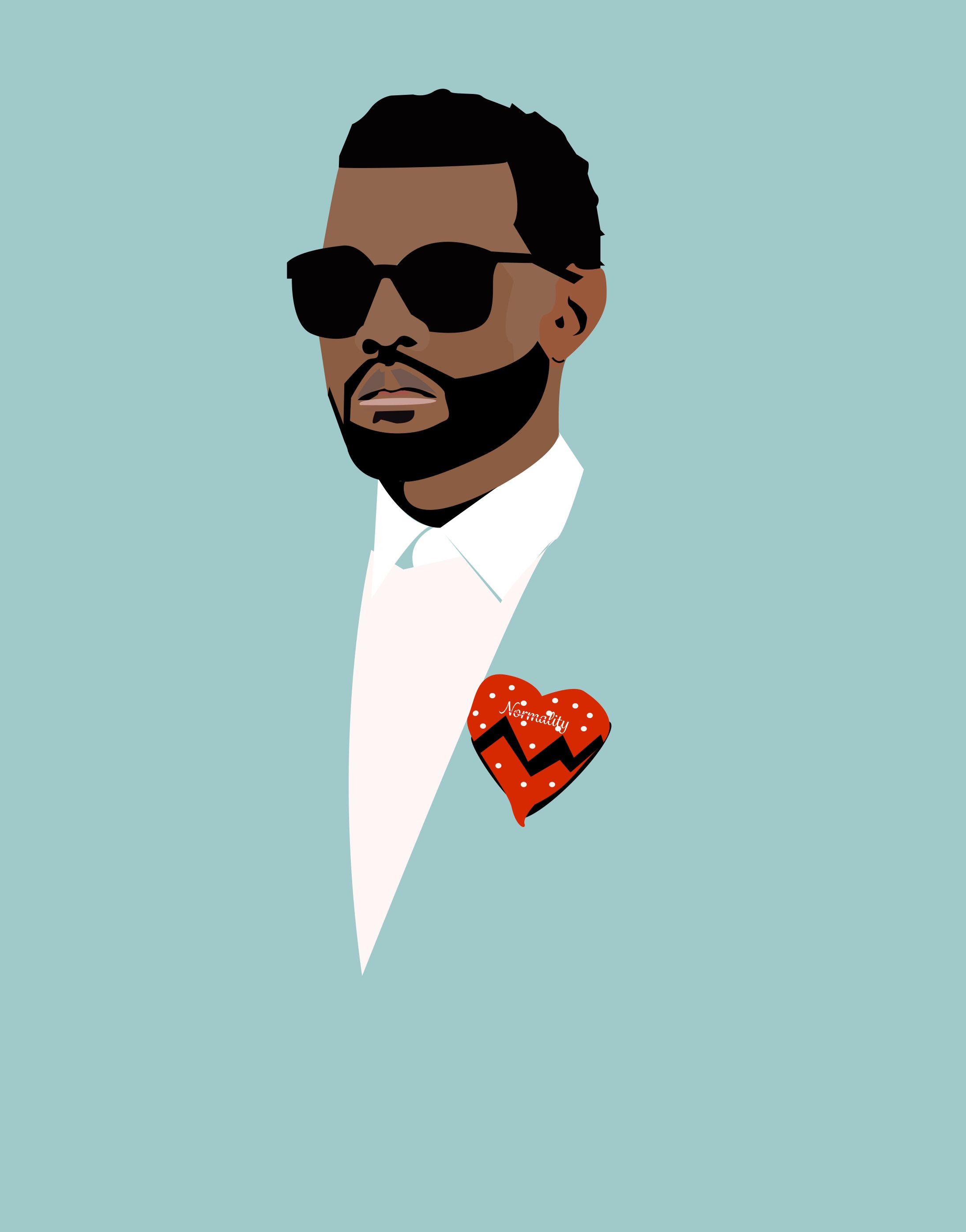 Digital Illustration Of Kanye West And Is Inspired By His 808 And Heartbreaks Album Illustration Digital Illustration Bear Tattoo