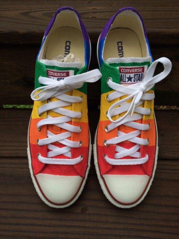 1d83dab5a792 Gay Pride Converse Rainbow Shoes Wedding Civil Union