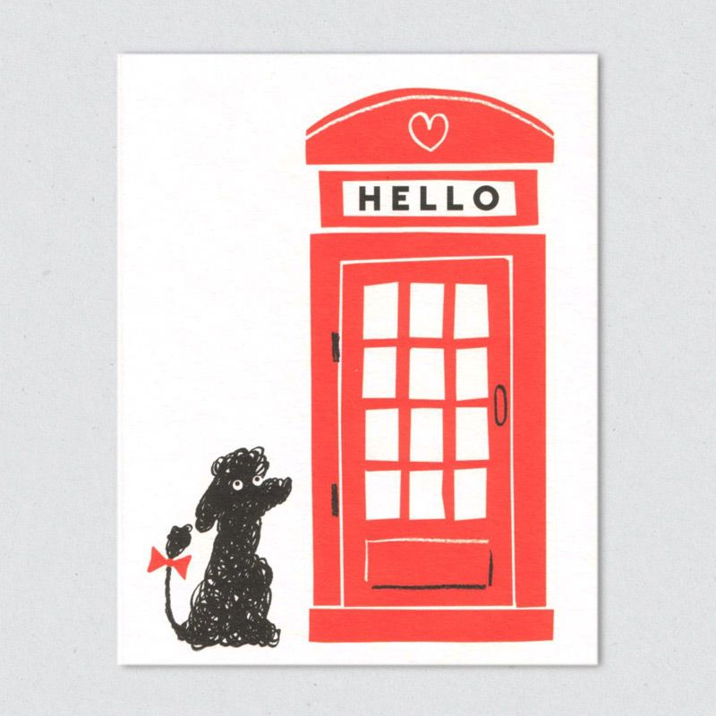 Lisa jones studio recycled greeting card illustration of a black buy kiosk greeting card by lisa jones studio at soma gallery bristol lisa began designing and hand printing her own range of gorgeous cards with the help m4hsunfo Image collections