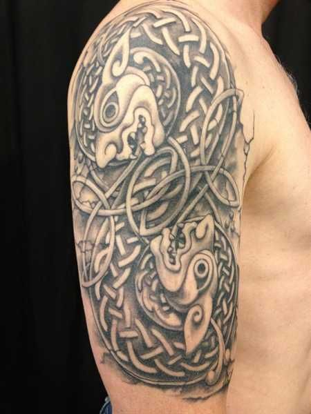 6c442e4ca Celtic Shoulder |Hidden Hand Tattoo - Jeff Cornell | Tattoos | Hand ...
