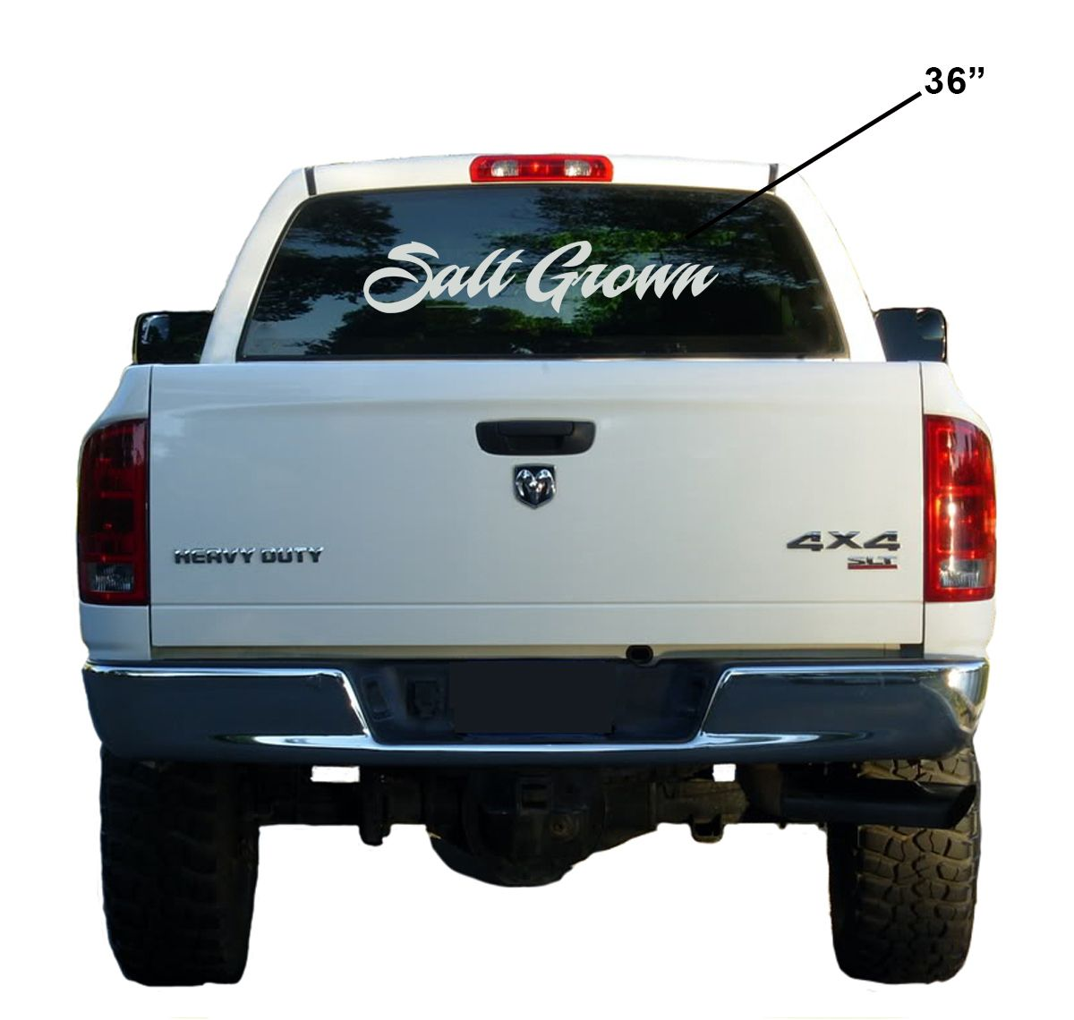 Salt Grown Brand Dolphin mahi window decal saltwater fishing sticker flats life