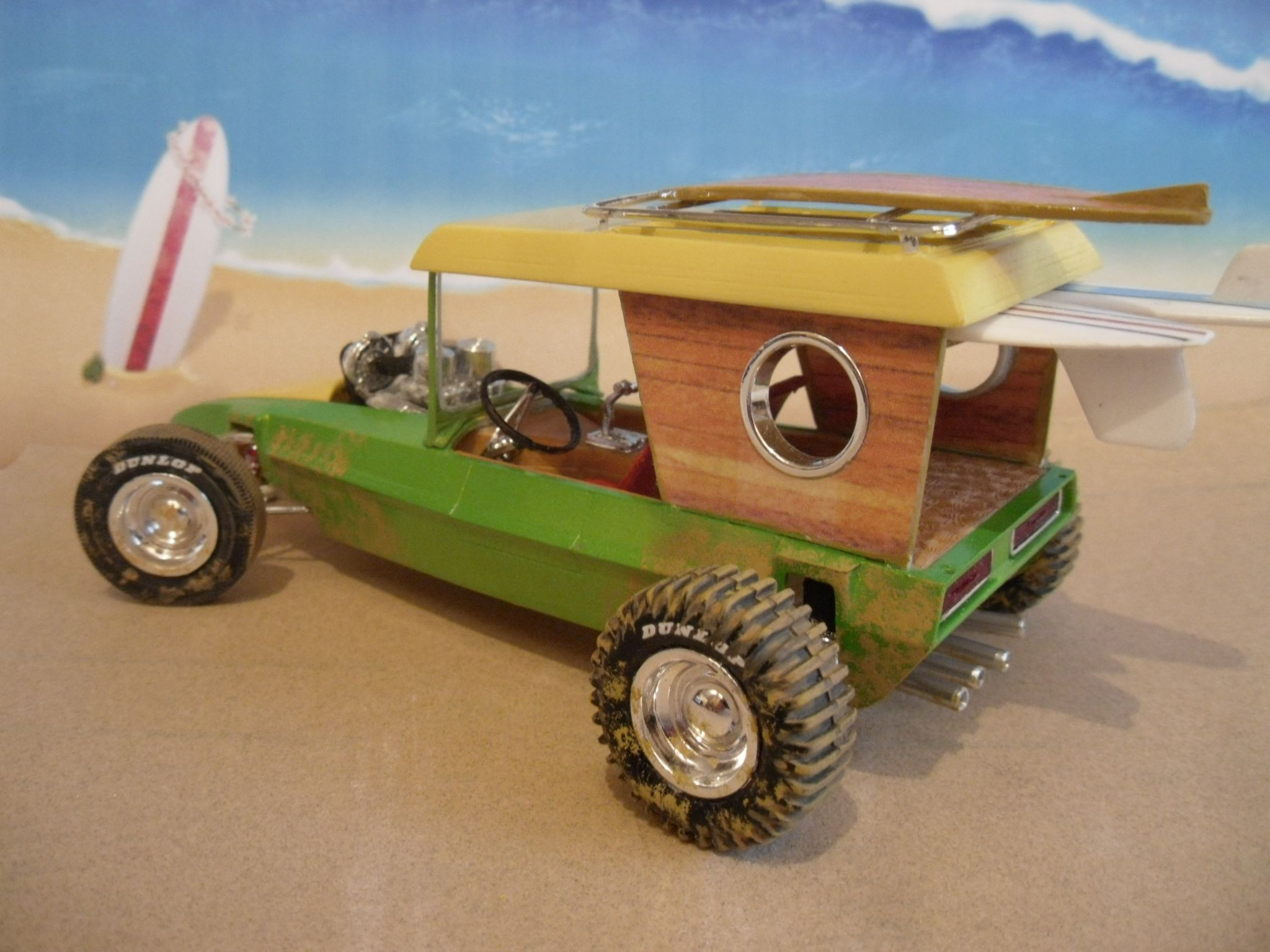 AMT Surf Woody Modified By Cutting And Reshaping Sides Opening - How to make homemade decals for cars