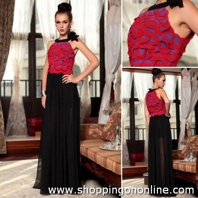 Black Red Evening Dress - Clubbing Long $181.99 Click here to see more details http://shoppingononline.com/evening-dresses/black-red-evening-dress-clubbing-long.html #BlackRedEveningDress #BlackRedDress #BlackRed