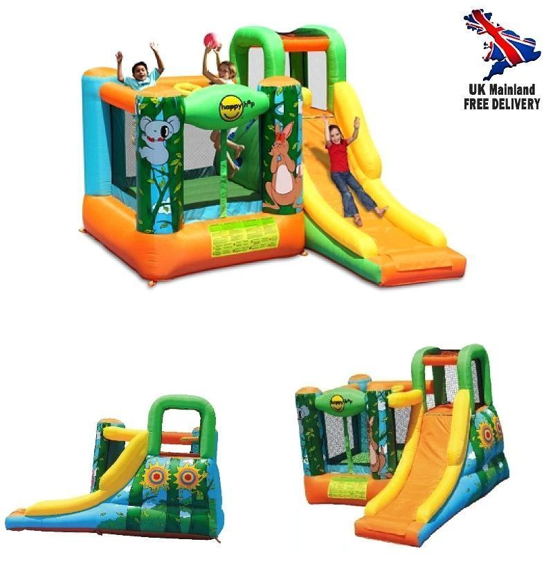 Kids bouncy castle slide patio inflatable toys play