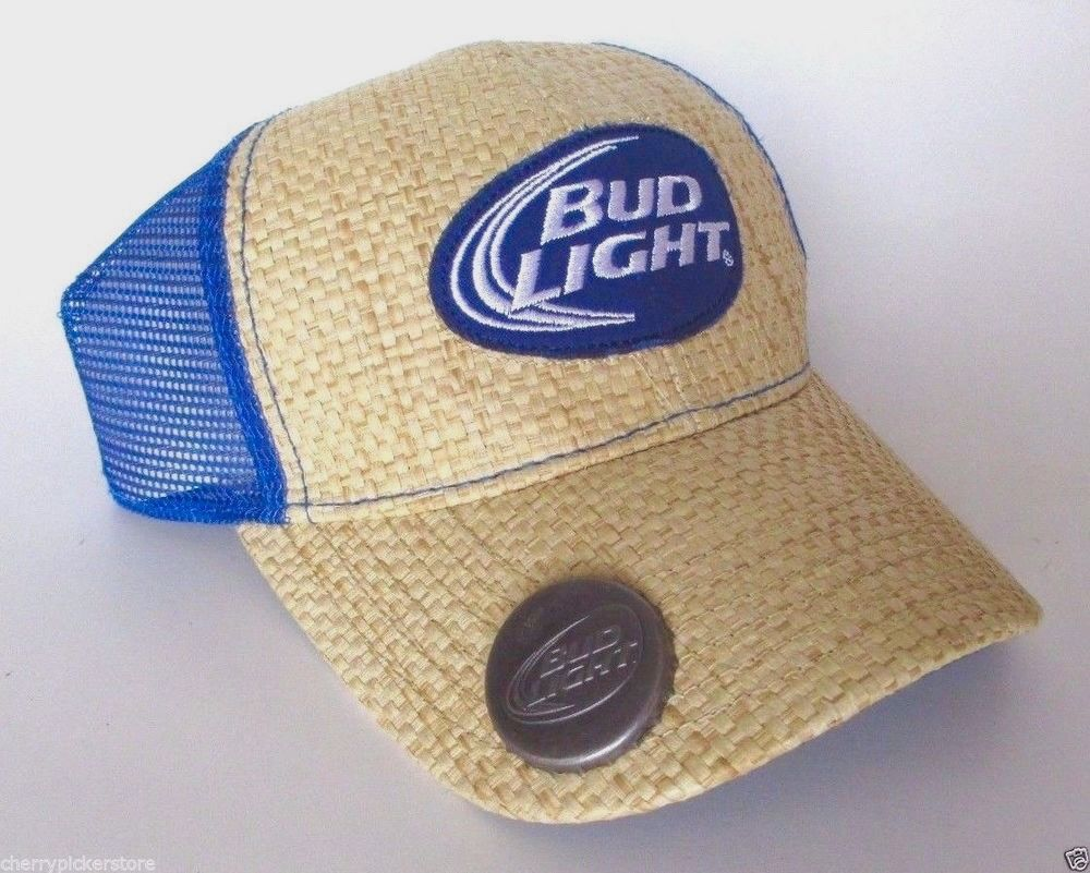 Bud Light Straw Mesh Hat Budweiser Bottle Opener Ball Cap Adjustable   fashion  clothing  shoes  accessories  mensaccessories  hats (ebay link) ed8779ad2c11