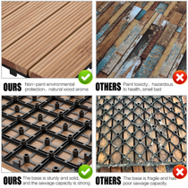 12 X 12 27 Pcs Patio Pavers Interlocking Wood Tiles Wood Flooring Tiles Indoor Outdoor For Patio Garden Deck Poolside Walmart Com
