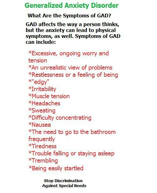 Understanding Generalized Anxiety >> Www Mentallythrilled Com Generalized Anxiety Disorder