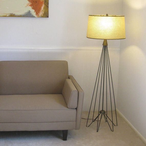 Mod 1960s Lucite And String Art Pendant Lamp Unique