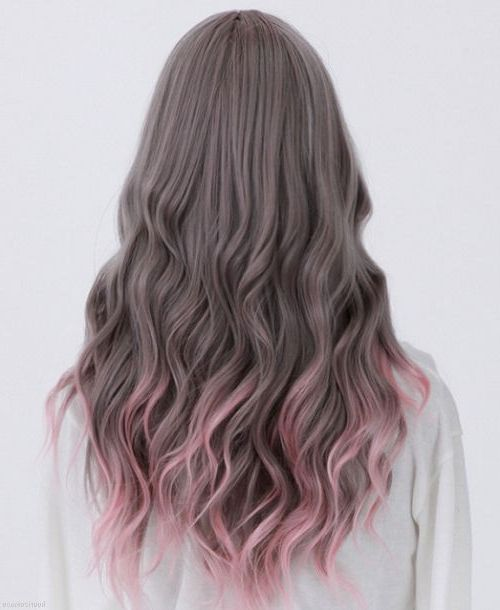 very ash brown with pale pink ombre mariahstylist