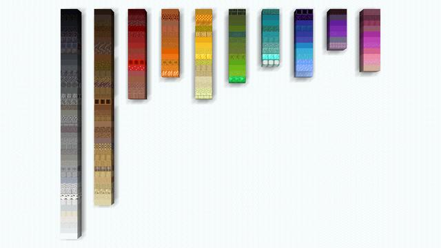 Colour Spectrum Of Building Blocks Minecraft Building Blocks Color Spectrum Minecraft Blocks