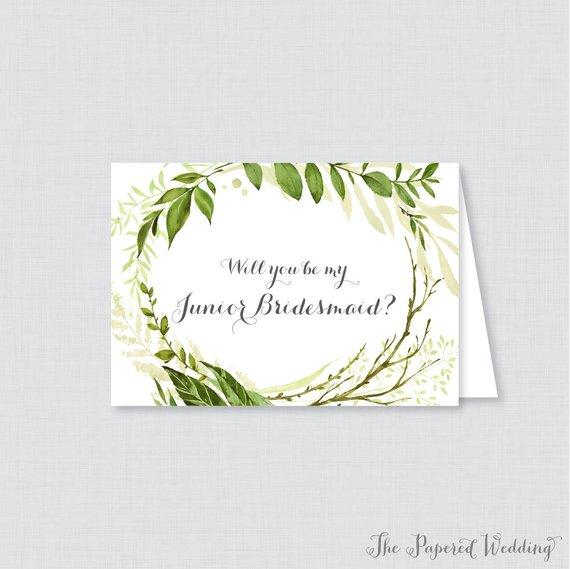 green bridesmaid card