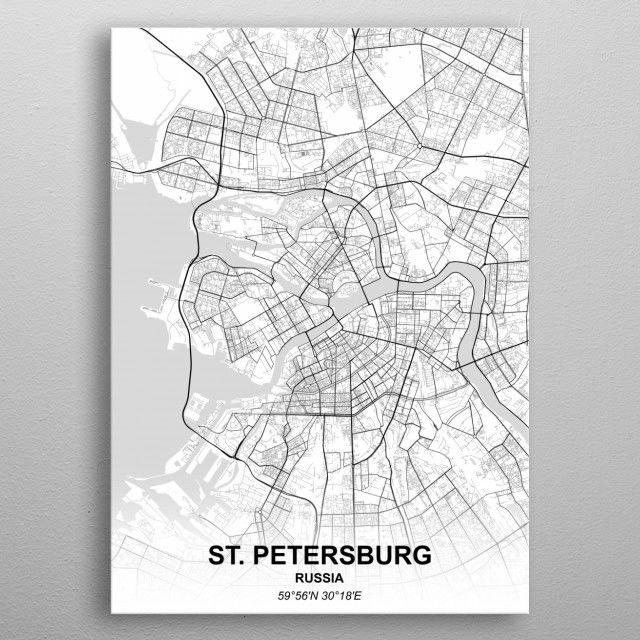 Карта петербурга постер