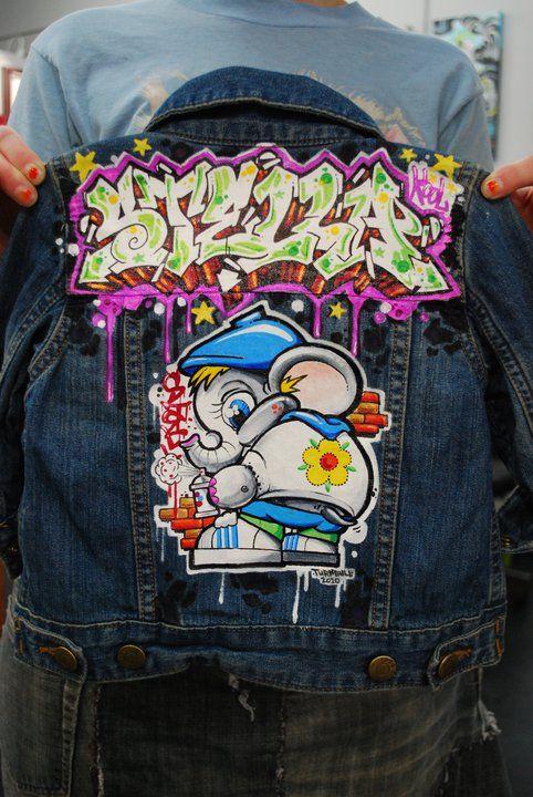 Hand Painted Child S Denim Jacket By Bryan J Turnbull
