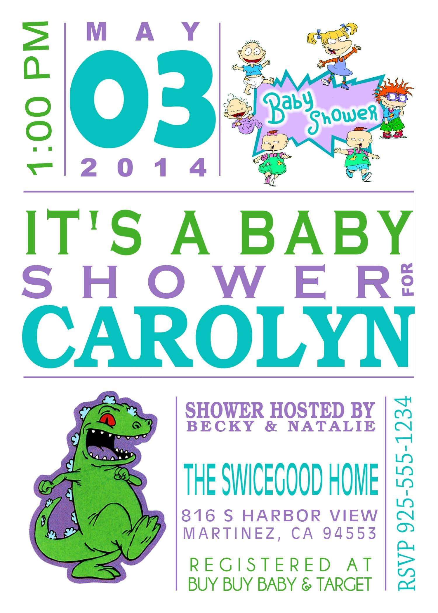 Rugrats Baby Shower Invitation Motherhood In 2019 Pinterest