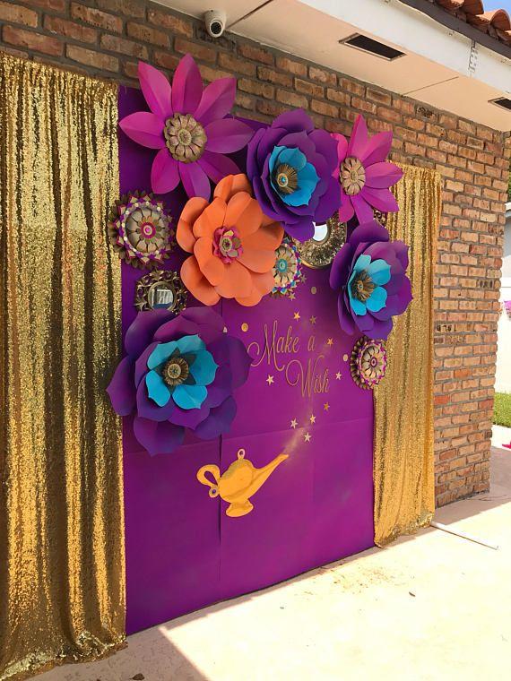 CADA flor de papel gigante artesanal sólo-el telón de fondo completo es 450,00, más el envío. El telón de fondo completo es de 8 pies de alto por 10 pies de ancho #largepaperflowers