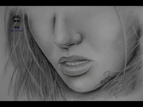 تعلم رسم مسامات الوجه والشعر الابيض الشيب Youtube Girl Drawing Sketches Photo And Video Drawings